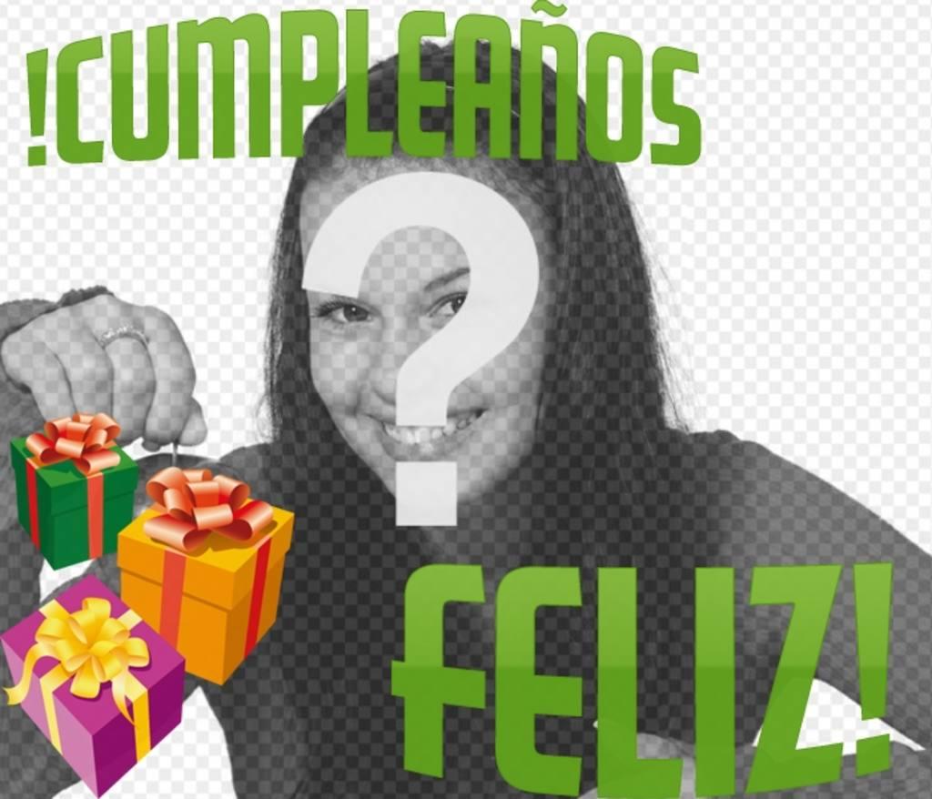 Haz una tarjeta de felicitación de cumpleaños con tu fotografía gracias a este fotomontaje
