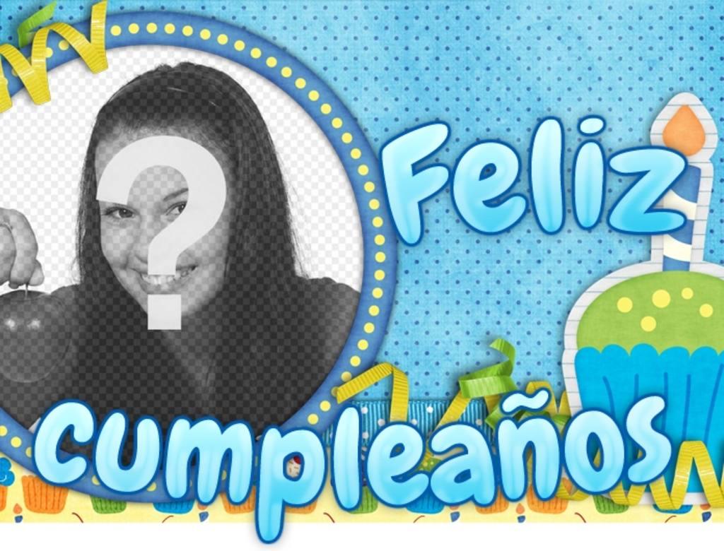 Postal de cumpleaños personalizable con la frase Feliz cumpleaños