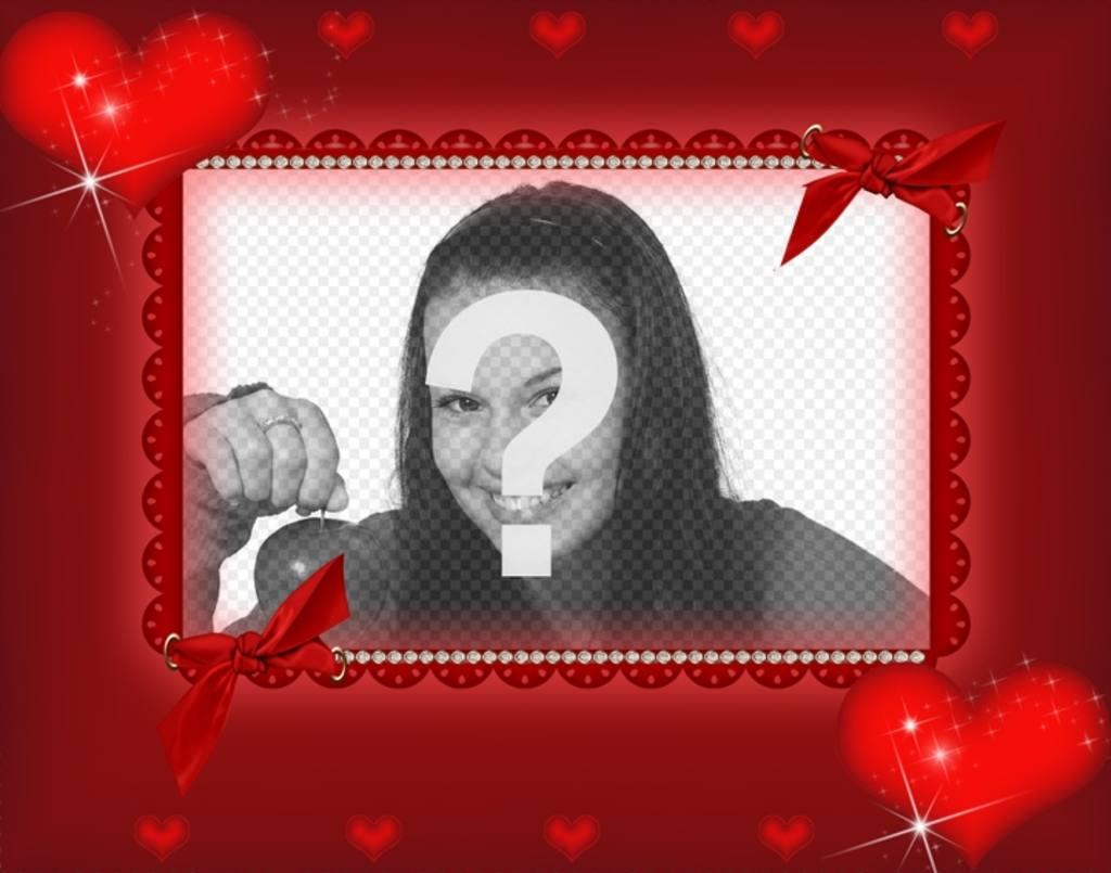 Marco rojo rectangular para una fotografía, vemos detalles de ...