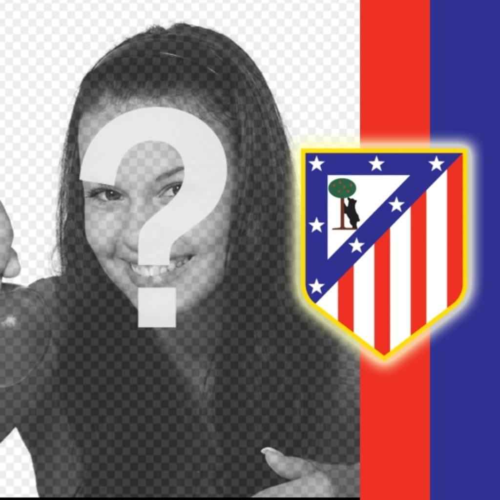 pon escudo atletico madrid colores foto
