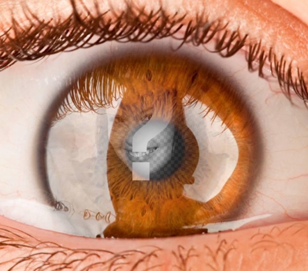 fotomontaje poner foto estuvieras un ojo