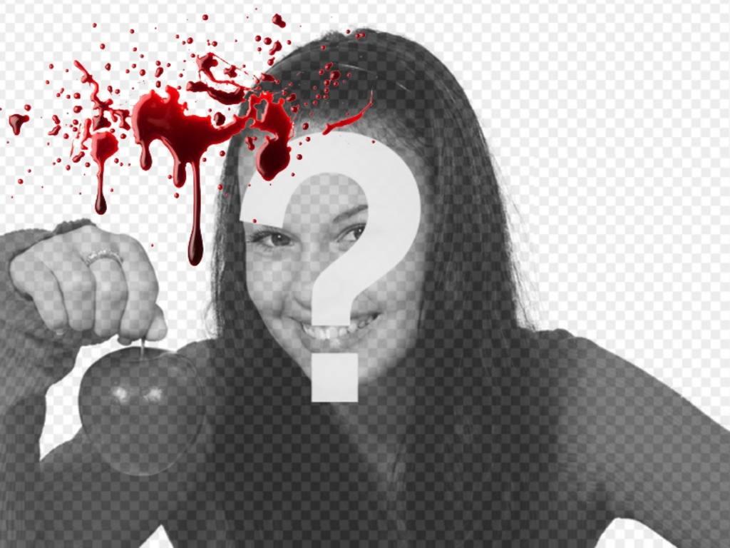 Foto efecto online para poner en tus fotos un efecto de sangre fresca