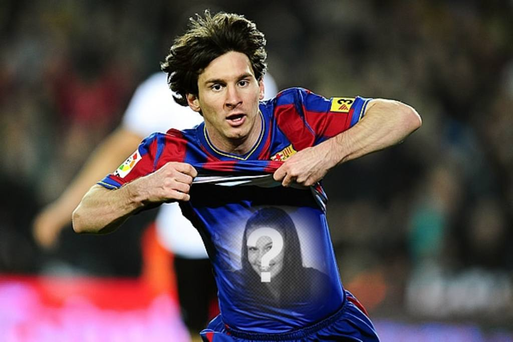 Fotomontaje para poner tu foto en la camiseta de Leo Messi