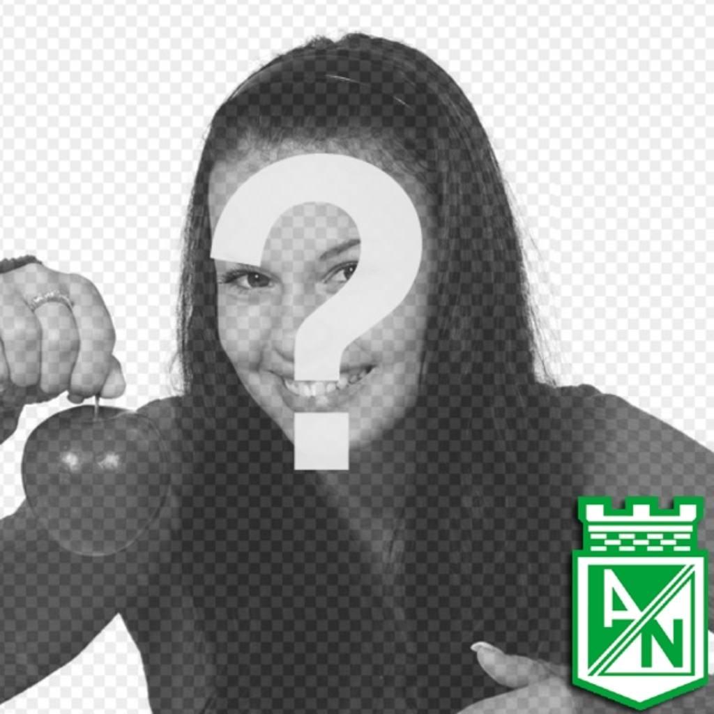 fotomontaje puedes poner foto fondo escudo atletico nacional