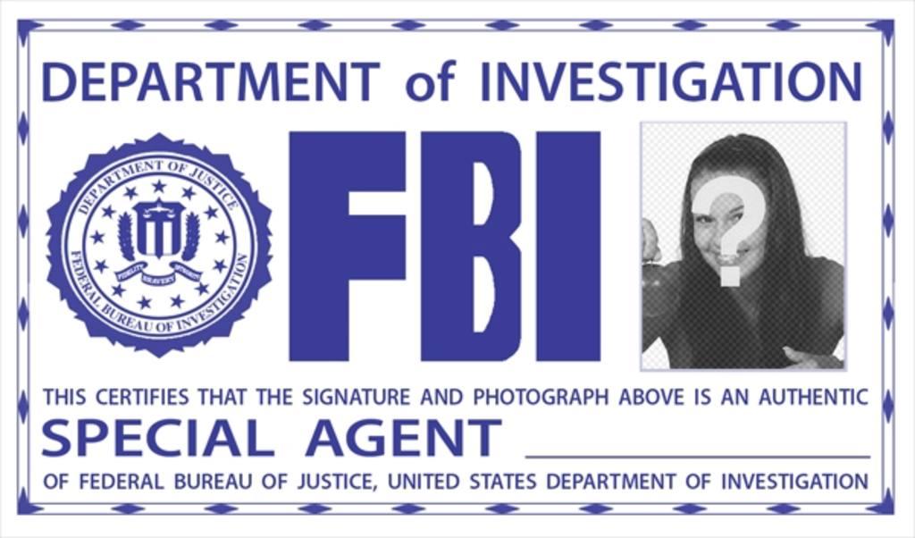 fotomontaje placa identificacion fbi sorprende amigos poniendo foto