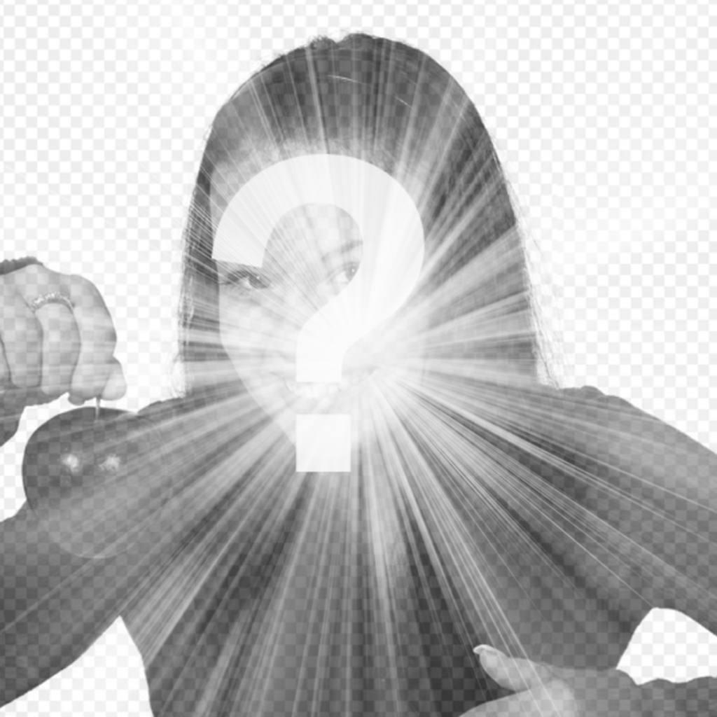 Efecto de destello de luz blanca para poner en tus fotos online
