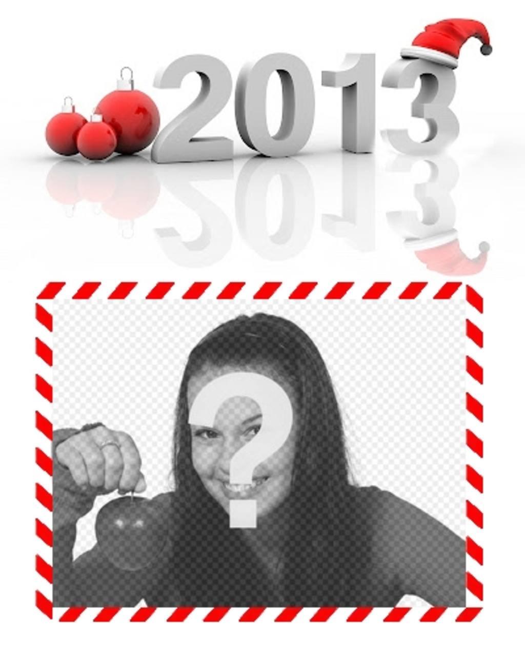 postal felicitar navidades nuevo ano 2013 online poner foto