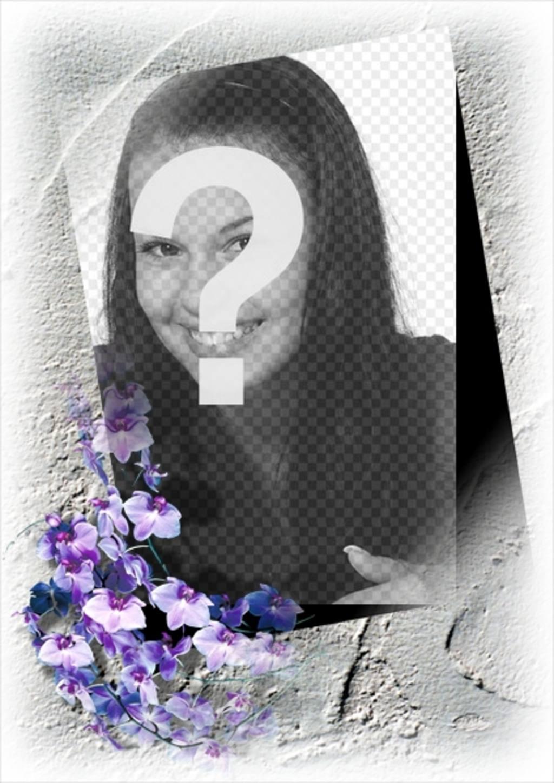 marco foto borde flores podras online gratis