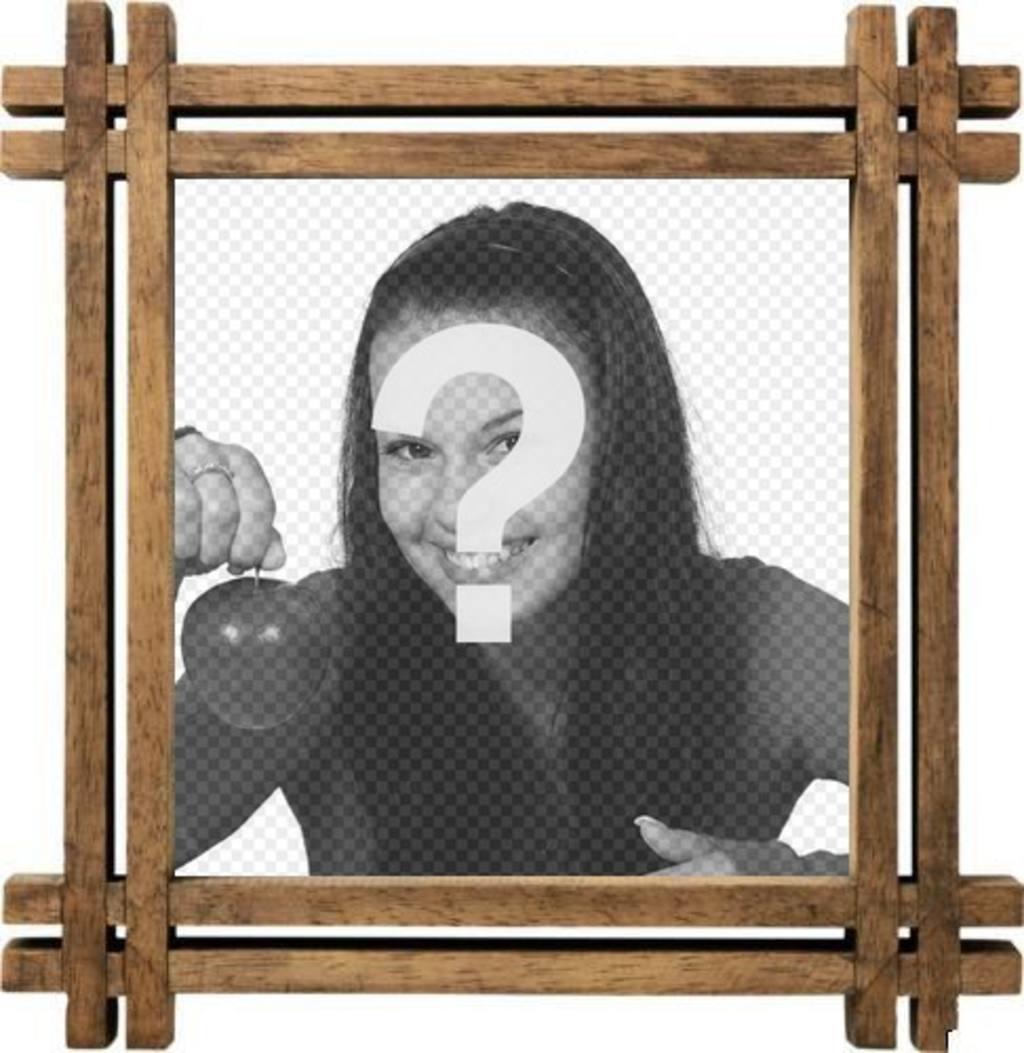 Marco para fotos con bordes de madera para personalizar con tu foto fotoefectos - Marcos de fotos madera ...