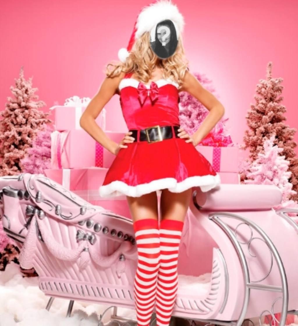 Fotomontaje de Mama Noel para hacer online