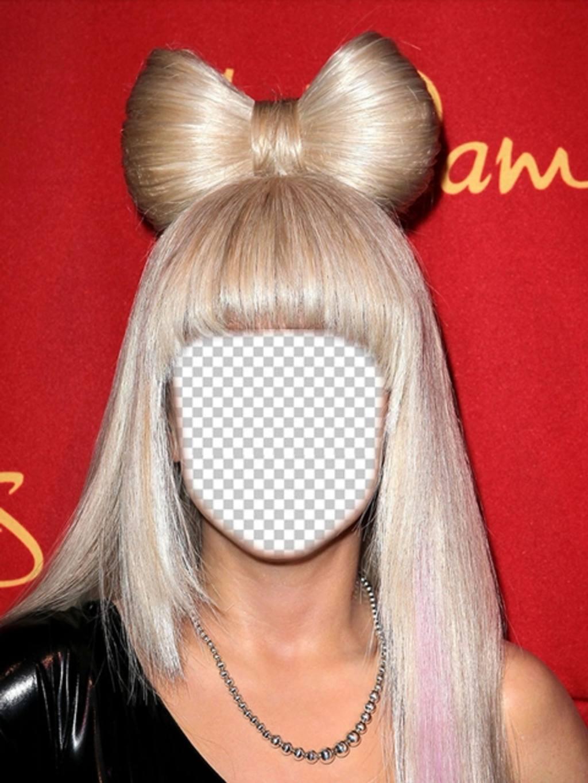 Fotomontajes con lady Gaga con el pelo rubio