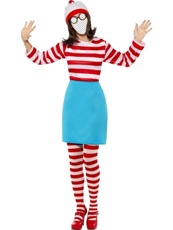 Fotomontaje de Walda del famoso juego *¿Dónde está Wally?* para editar