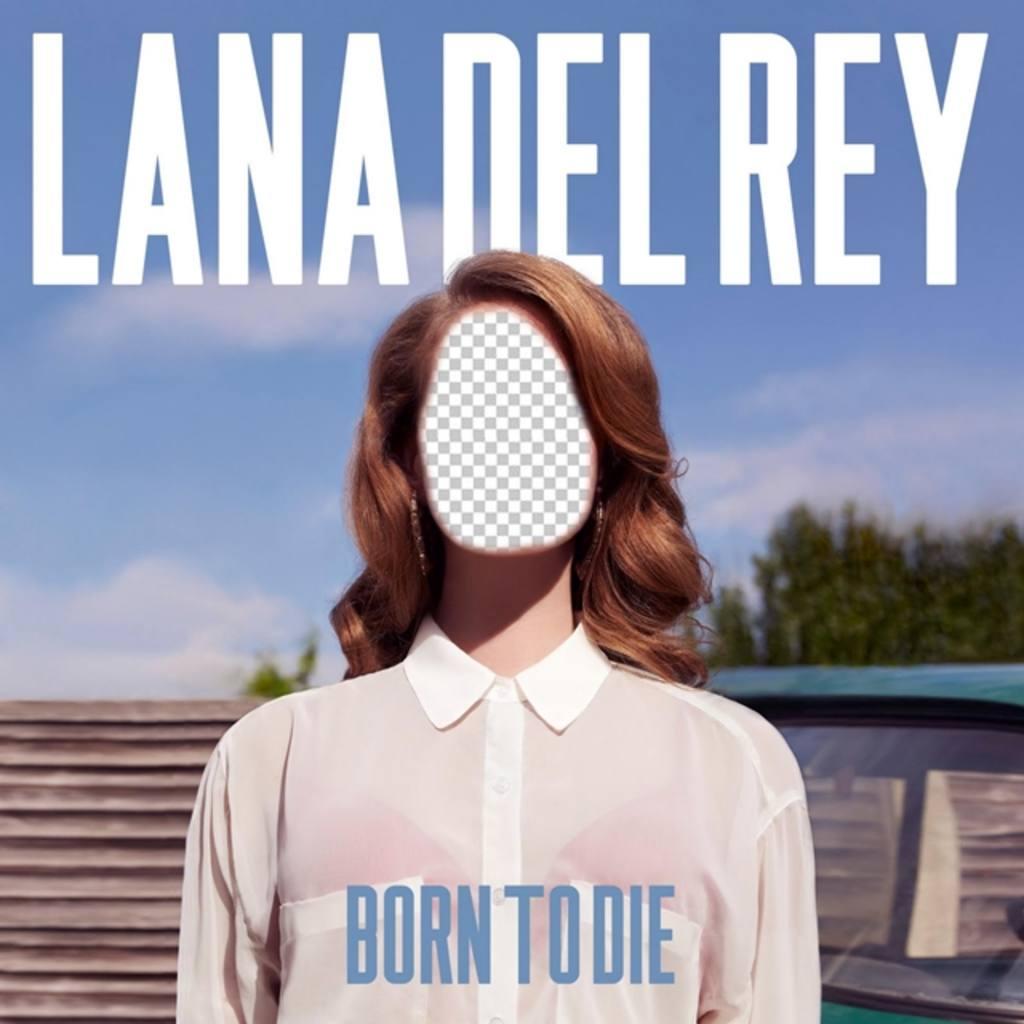 Fotomontaje con la portada del disco *Born to die* de la cantante Lana del Rey