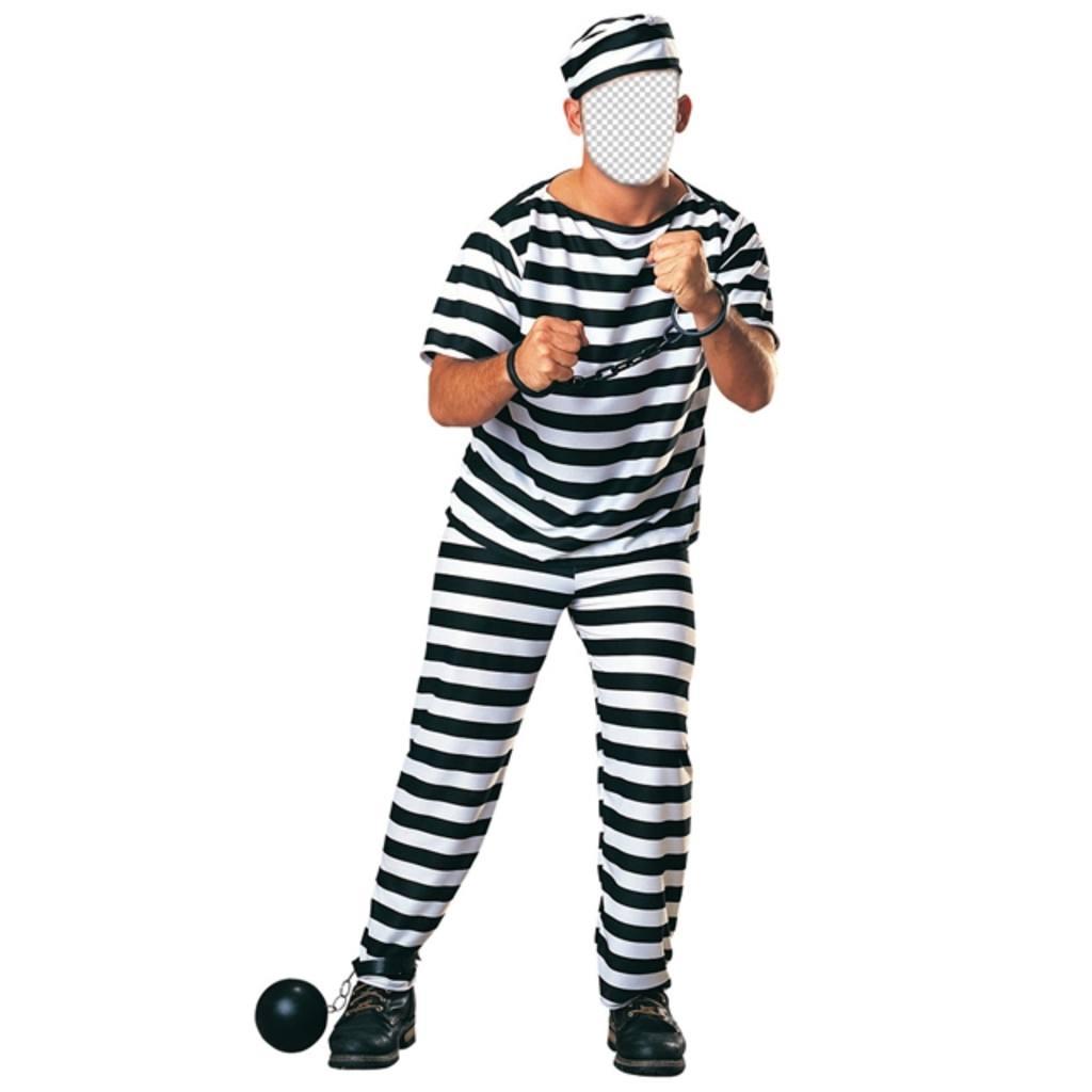 disfraz un preso cadenas editar foto online