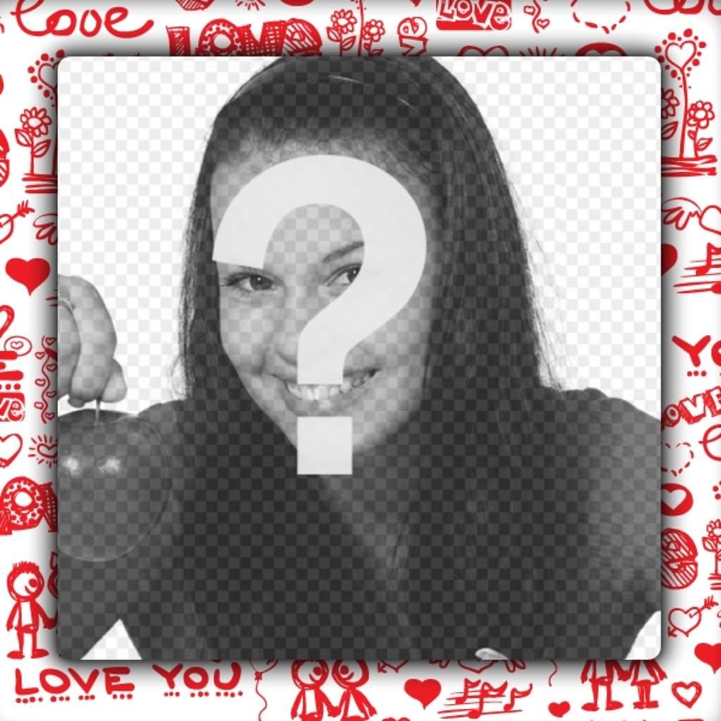 marco fotos amor personalizar fotos novio o novia crear fotomontajes regalar pareja