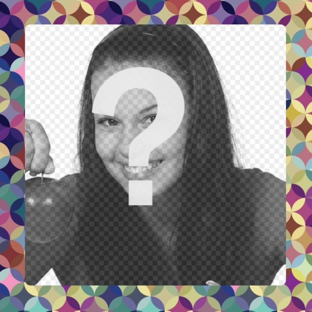 Marco par aponer tu foto de círculos de colores lilas y amarillos ...