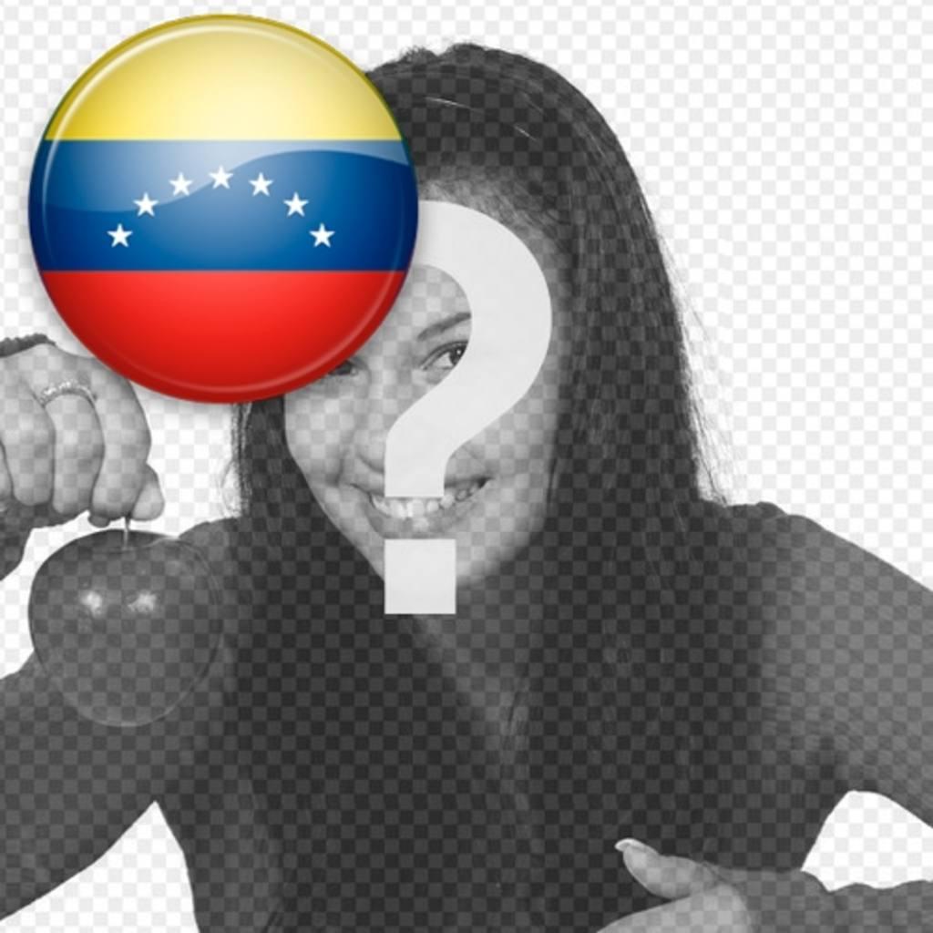 Chapa de la bandera de Venezuela para poner en tu foto