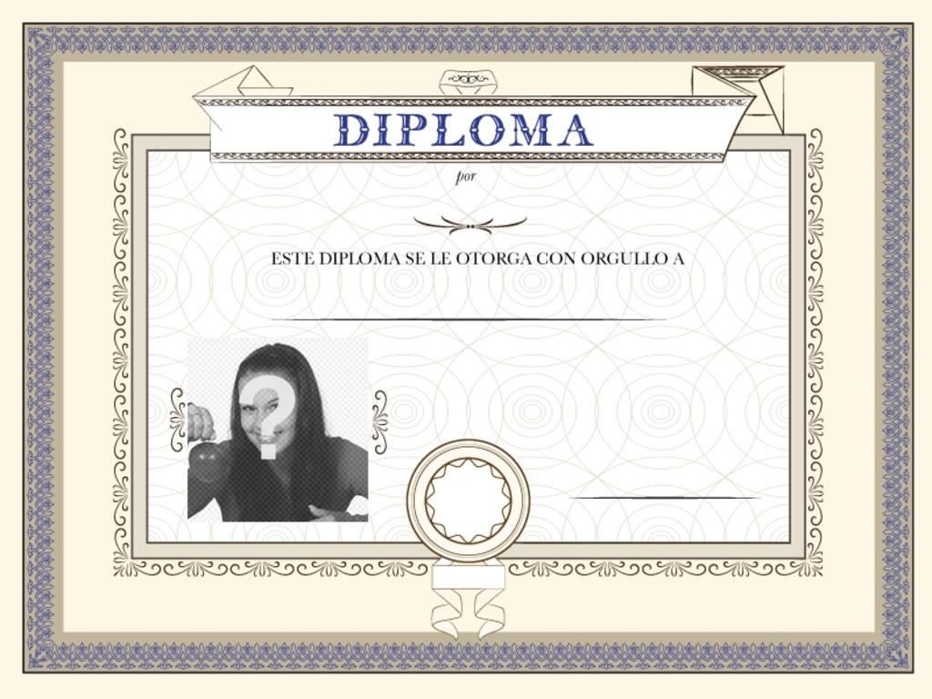 diploma personalizable foto un titulo entregar persona quieres haber conseguido un logro