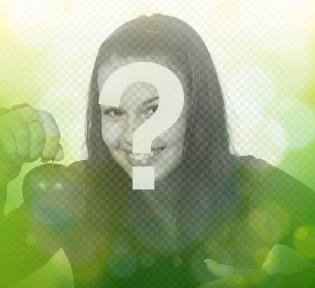 Filtro fotográfico verde con luces brillantes circulares para hacer online y gratis