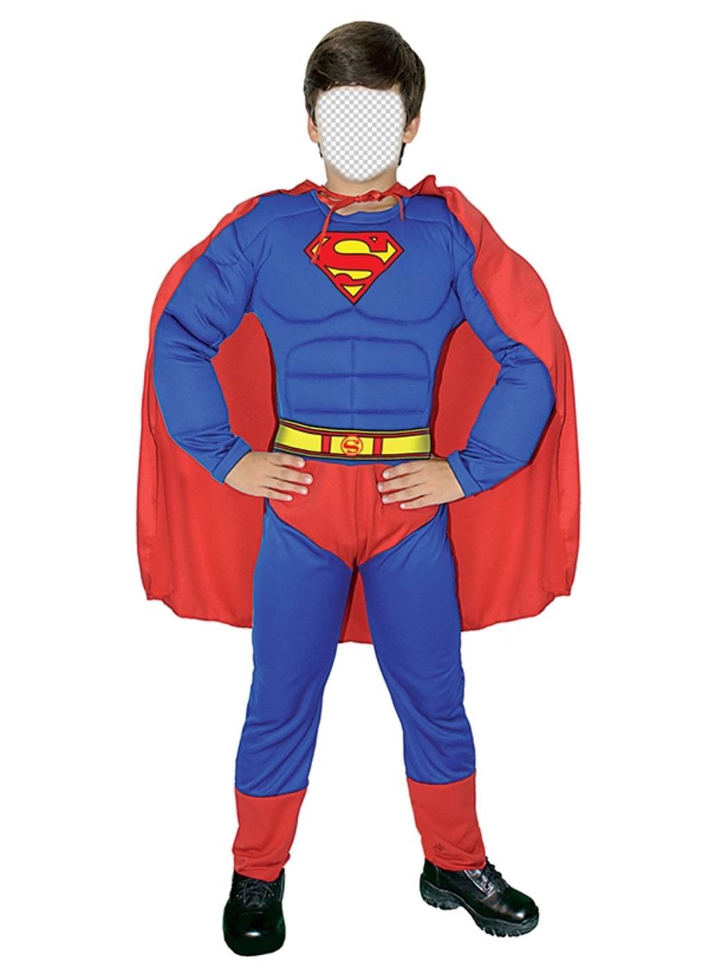 Fotomontaje gratis para disfrazar a tu hijo de Superman