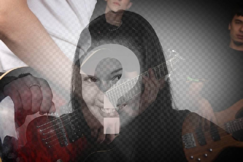 Image of: Filtro De Fotografia Con Un Grupo De Musica Con Guitarras Para Crear Fotoefectos