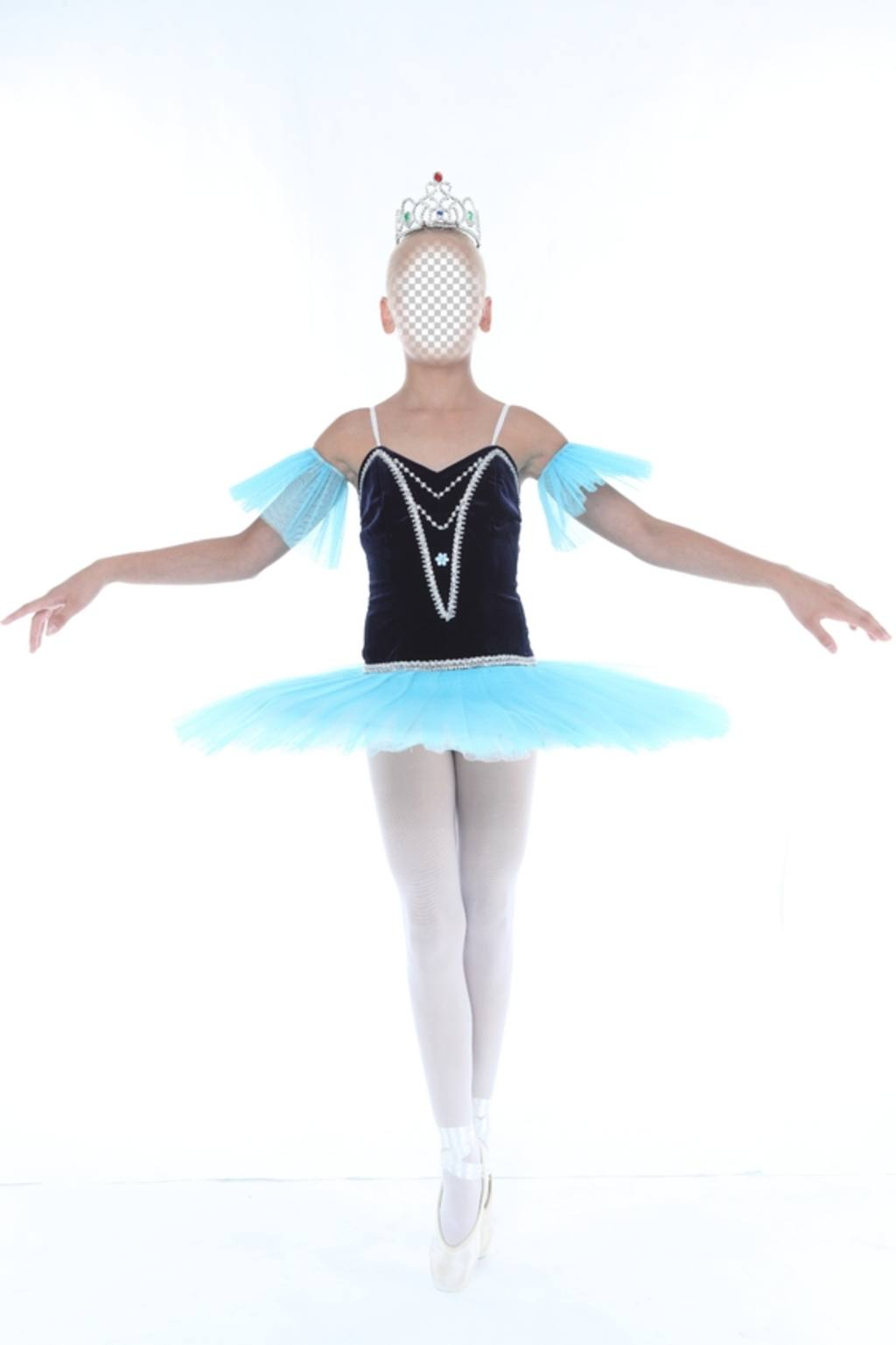 fotomontaje poner cara foto nina bailando ballet