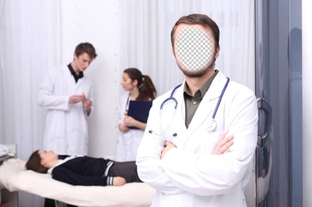 fotomontaje convertirte un medico hospital foto