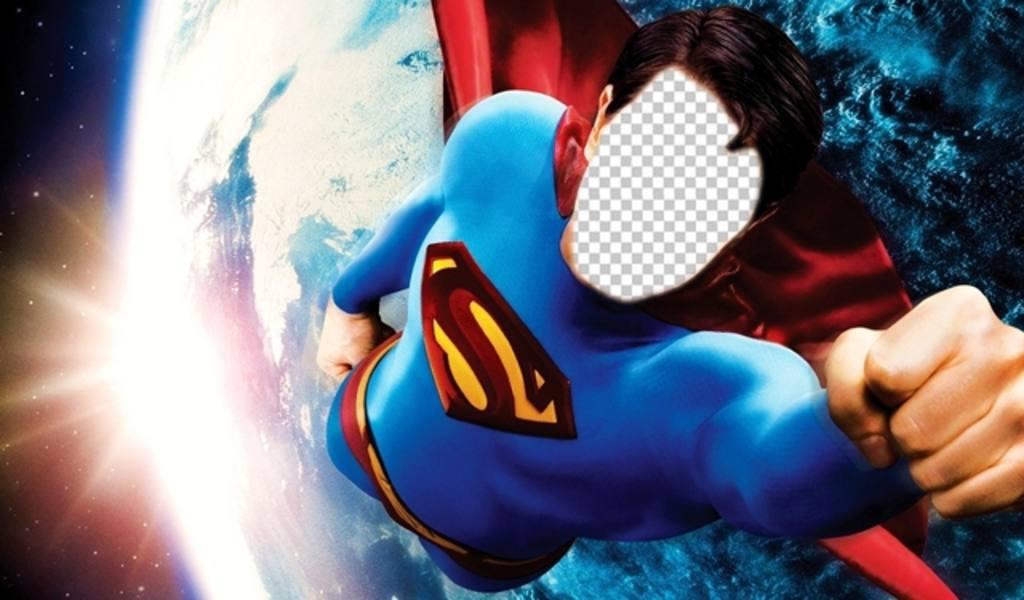 fotomontaje convertirte superman volando tierra