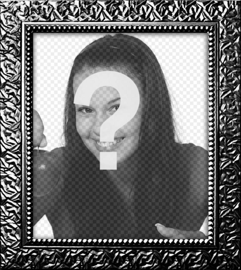 Marco para fotos digitales negro plateado con textura de cuadro real ...
