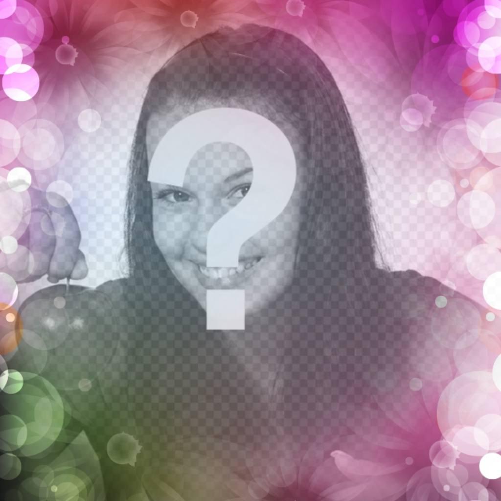 Crea un avatar para redes sociales online con flores y luces de colores sobre tu imagen de perfil y presume de diseño