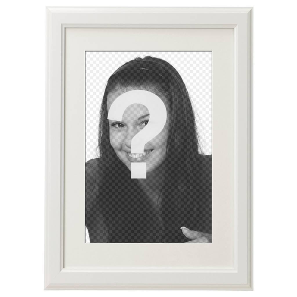 Marco de fotos blanco elegante y minimalista para decorar tus fotos preferidas y enviarlo por email o whatsapp y compartir en redes sociales