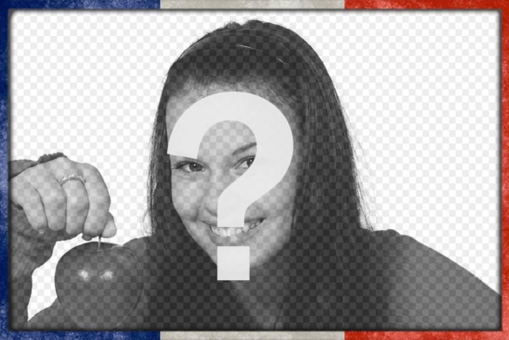 Marco de fotos con la bandera francesa en el borde para personalizar ...