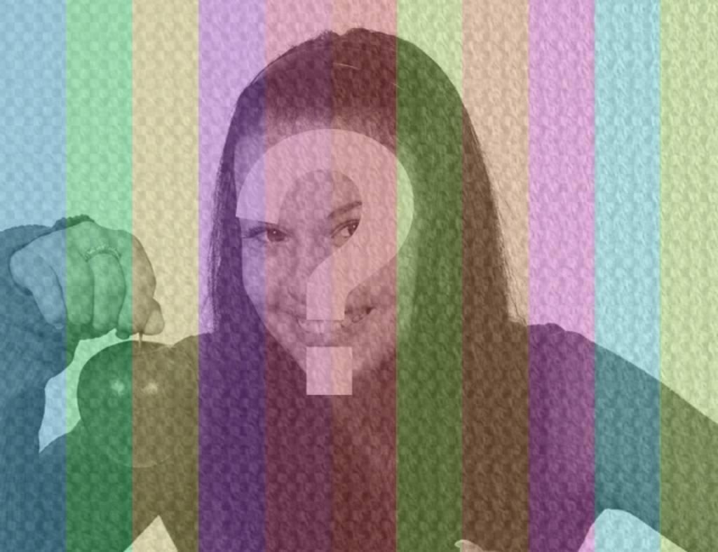 Filtro fotográfico con rayas verticales de muchos colores y textura de tela para editar tus imágenes online