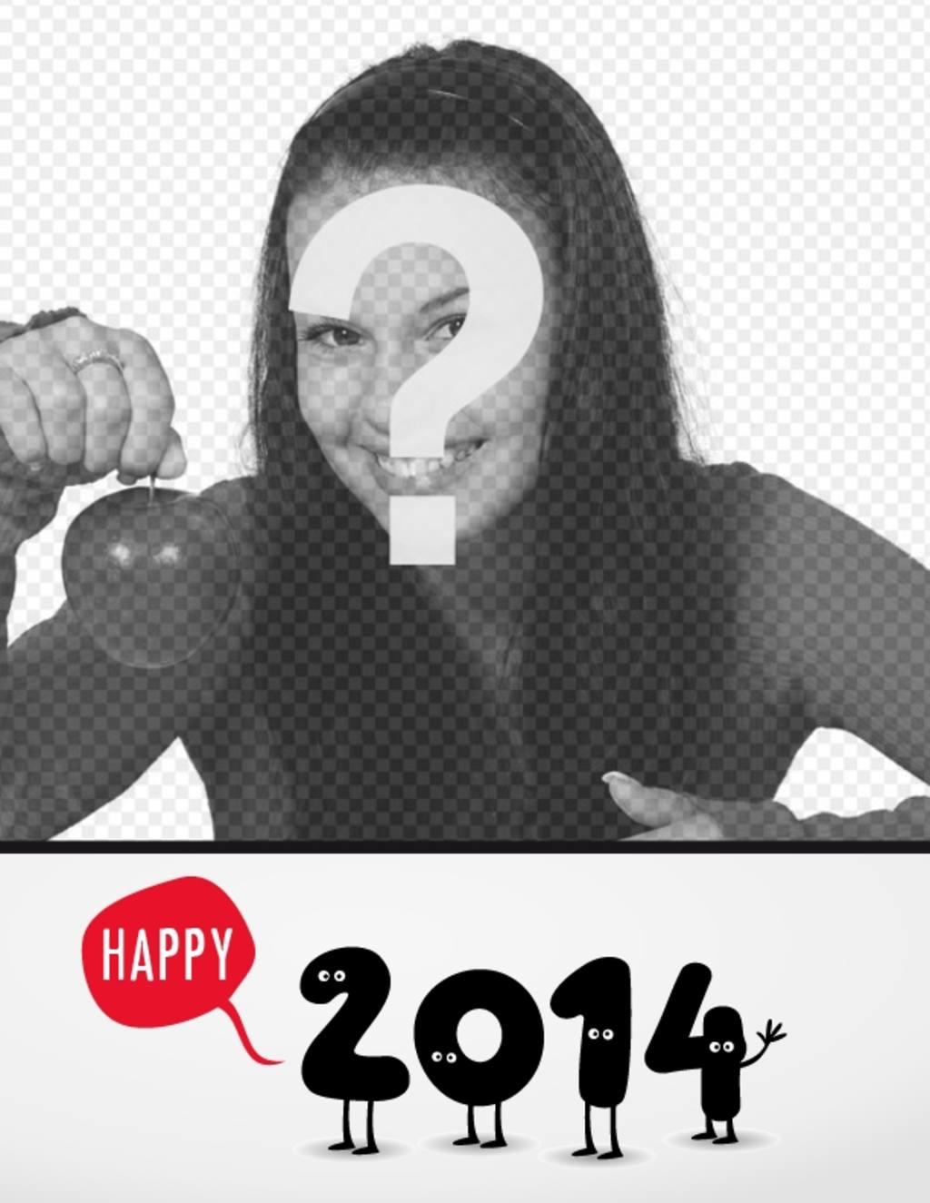 postal navidad numeros 2014 felicitando ano nuevo