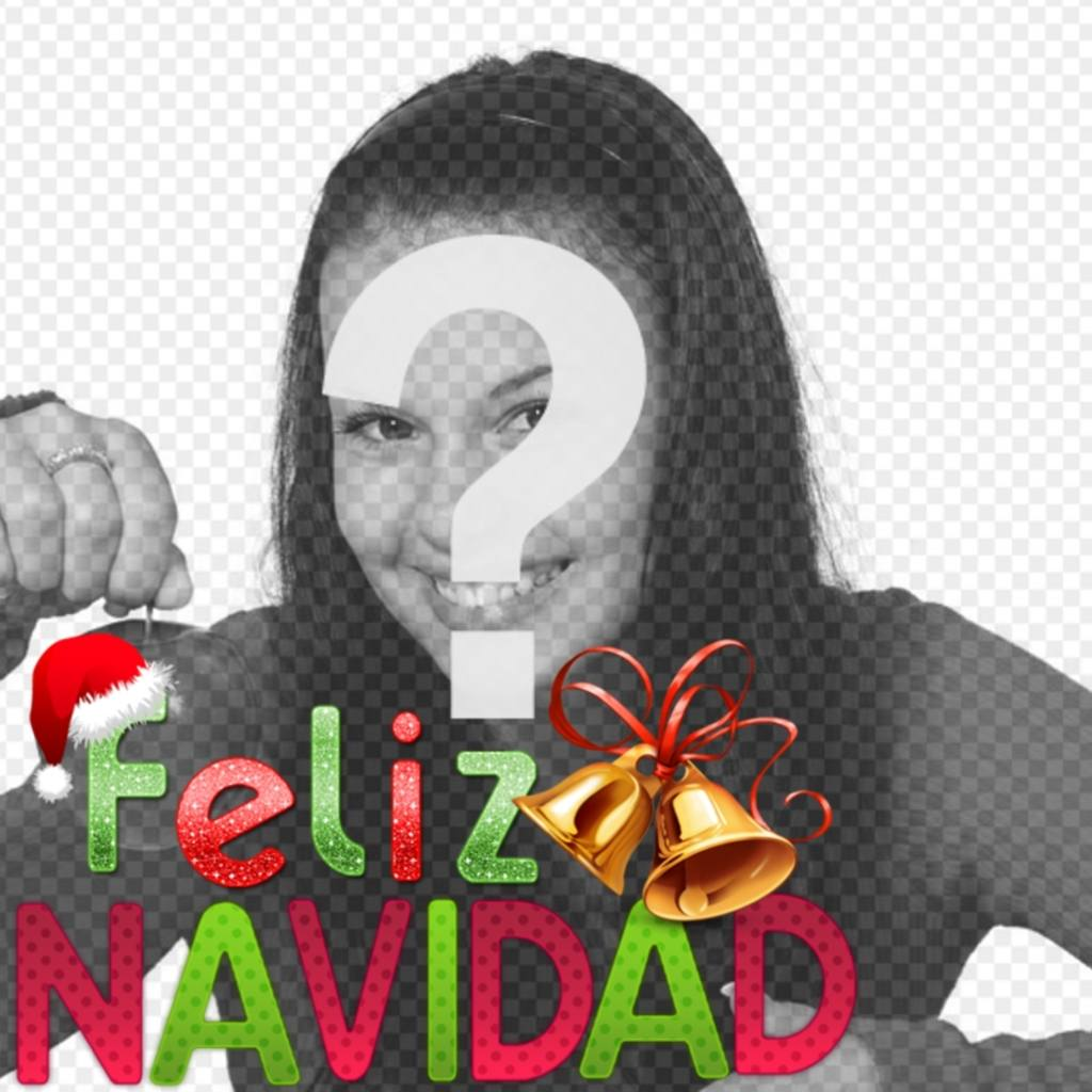 fotomontaje navideno podras poner foto texto colores adornos feliz navidad