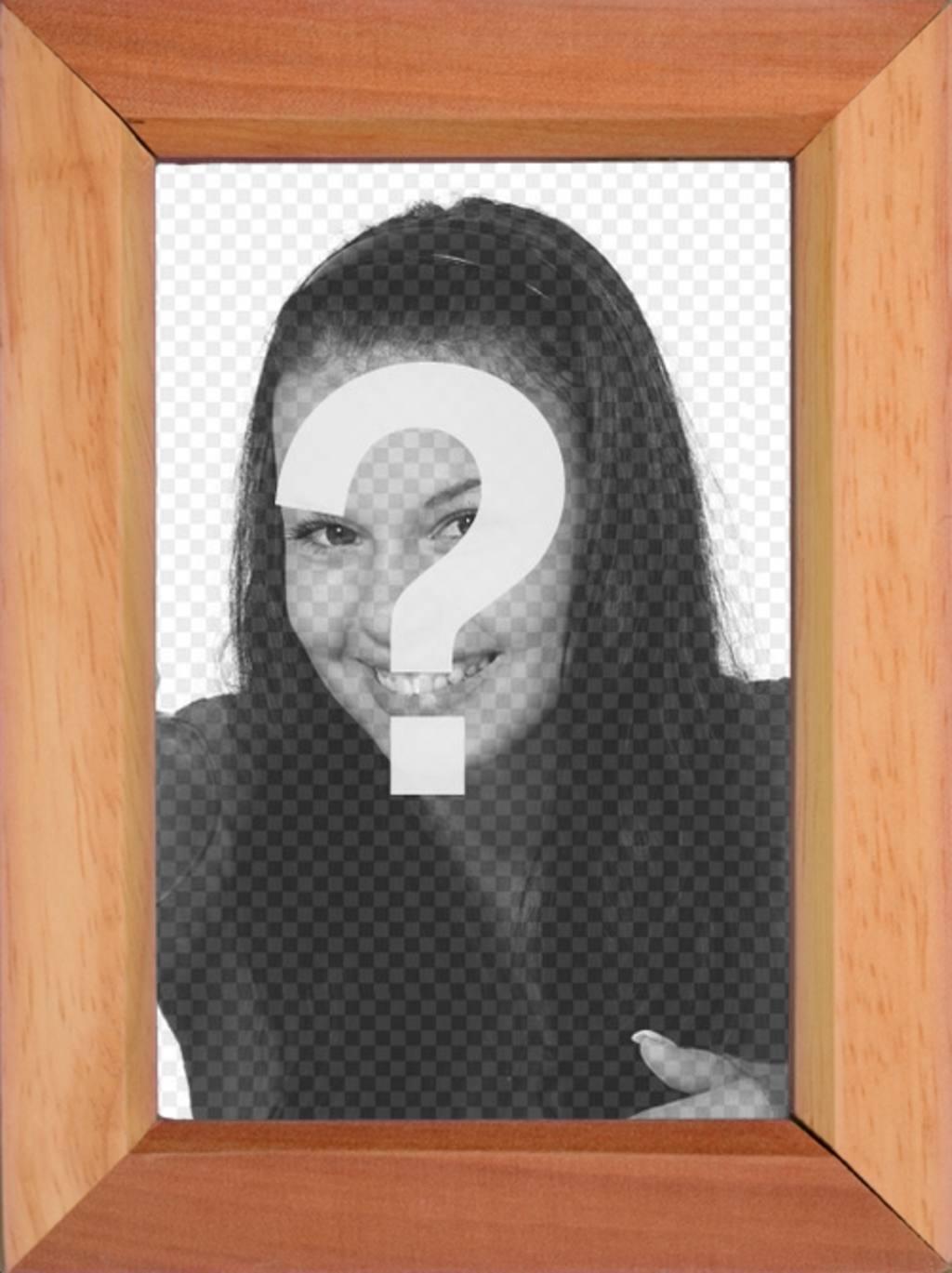 Marco para fotos estilo madera para poner una foto - Fotoefectos