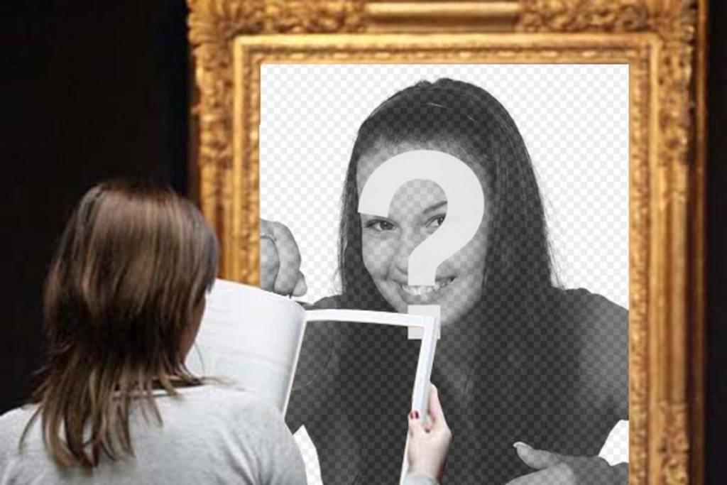 Fotomontaje para poner una foto tuya en un cuadro de un for Cuadros para poner fotos