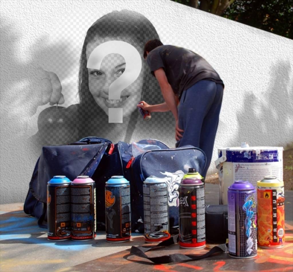 foto montaje poner foto un grafitti callejero puedes utilizar fotos parea crear montaje