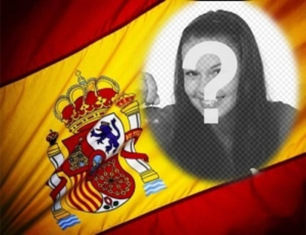 fotomontaje poner foto fondo bandera espana