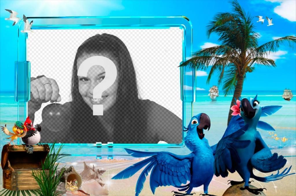 Fotomontaje de verano para poner tu foto en una playa