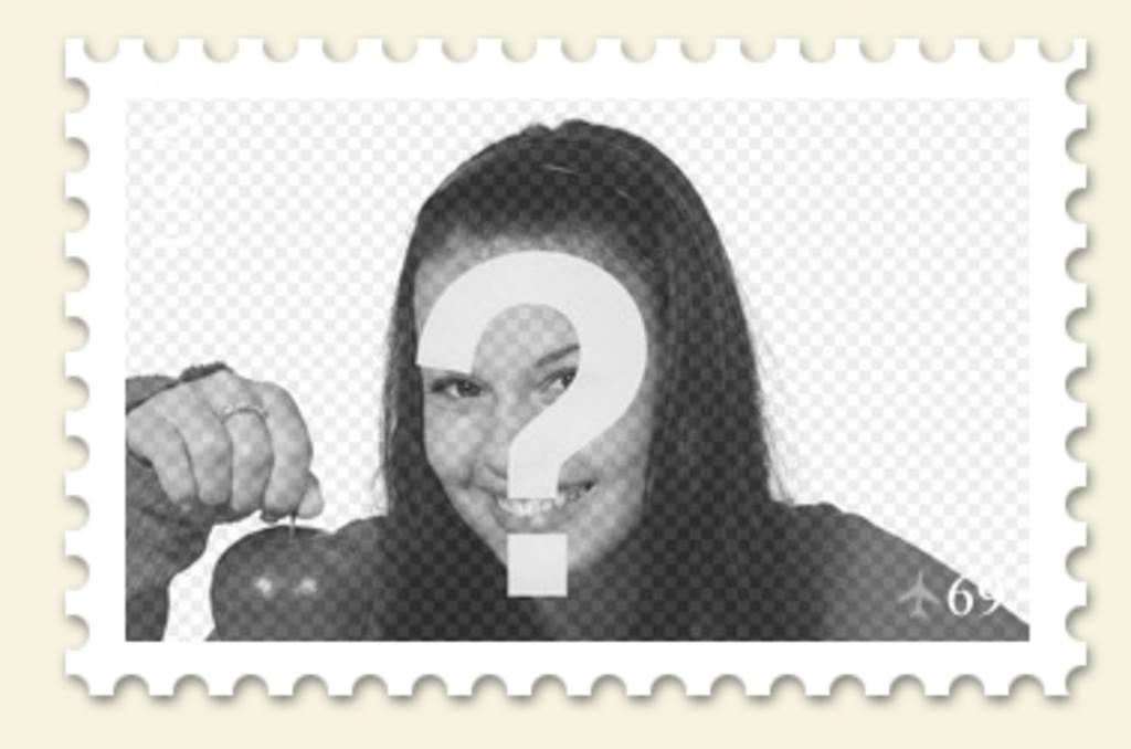 Collage para poner tu foto en un sello postal para hacer online ...