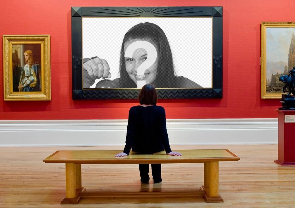 Marco para colocar tu fotografía como un gran cuadro de museo