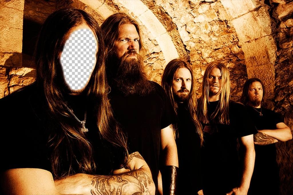 Fotomontaje para añadir tu cara a un cantante de heavy metal