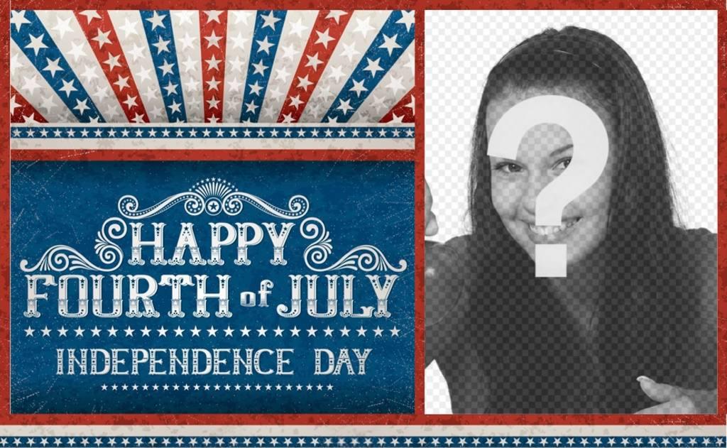 postal celebrar independencia estados unidos america