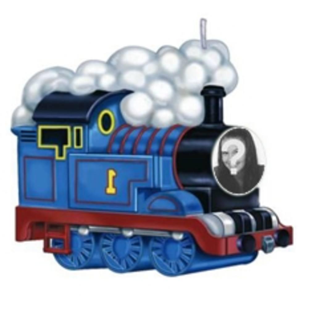 animacion tren thomas poner foto