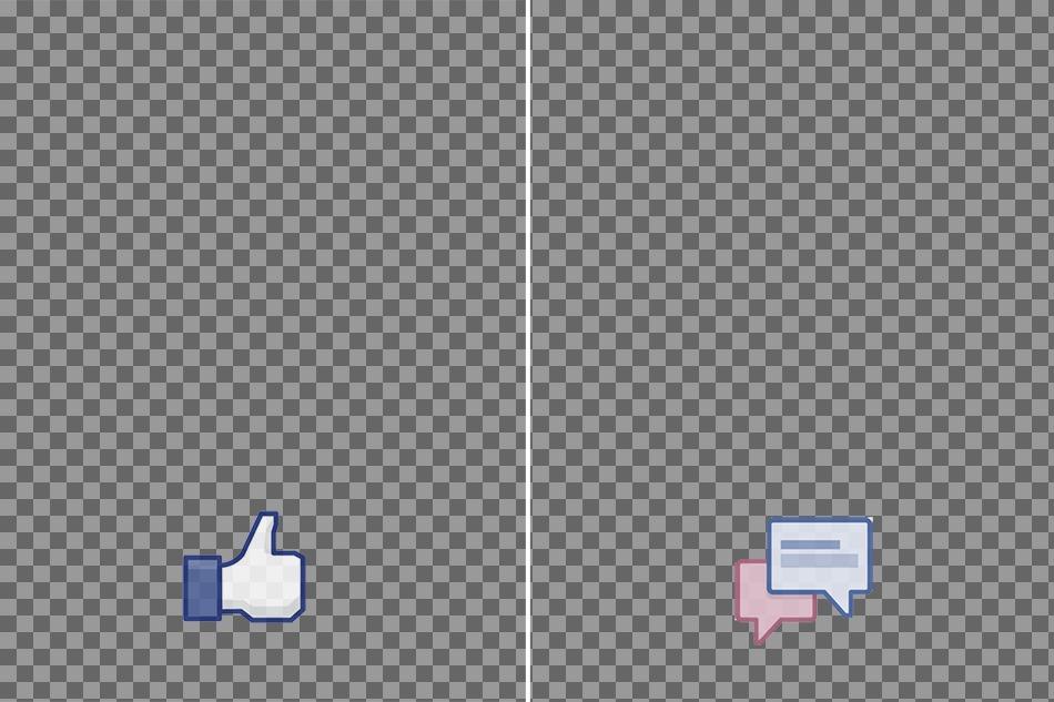 Margenes para fotos de facebook con franja de -like- y -compartir-