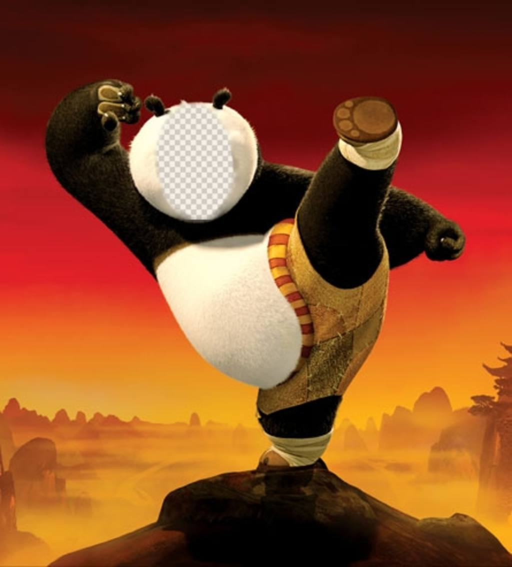 kung fu panda fotomontaje puedes editar gratis