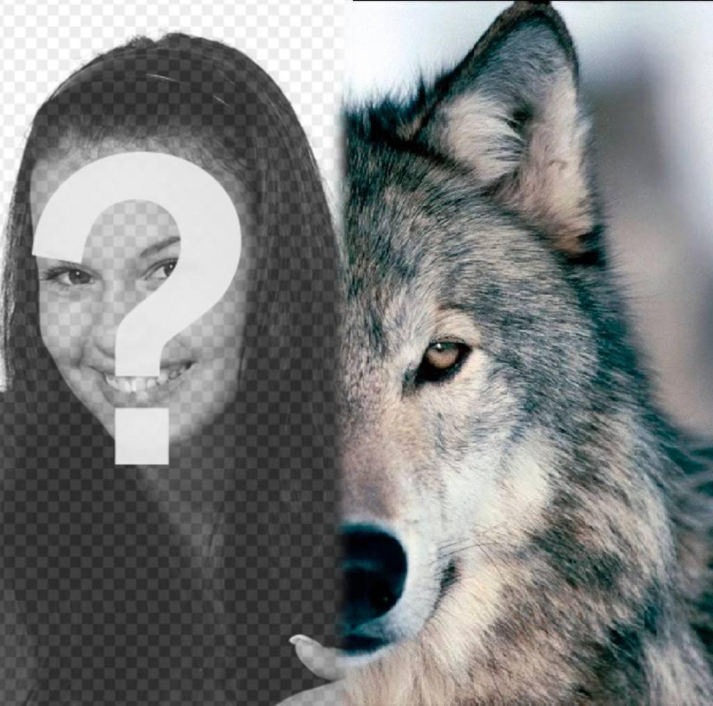 Convierte la mitad de tu foto en lobo con este fotomontaje