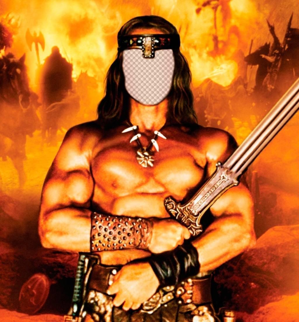 Pon tu cara en este fotomontaje online de Conan el Bárbaro