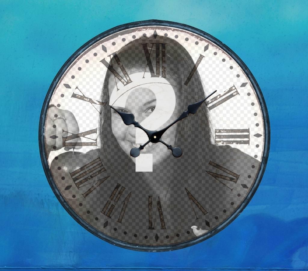 Marco para fotos online en forma de reloj analógico